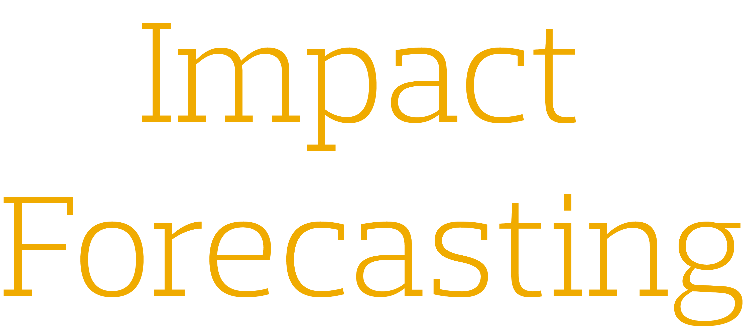 Impact Forecasting - gold text